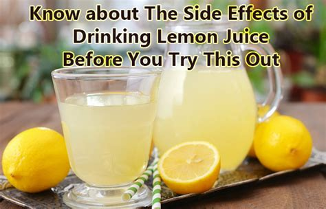 Bottled Lemon Juice For Detox by What Are The Side Effects Of Much Lemon Juice