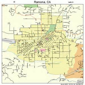 ramona california map 0659346