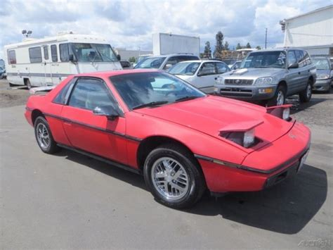 old car manuals online 1986 pontiac fiero on board diagnostic system classic 1986 pontiac fiero used 2 5l i4 8v manual no reserve for sale detailed description and