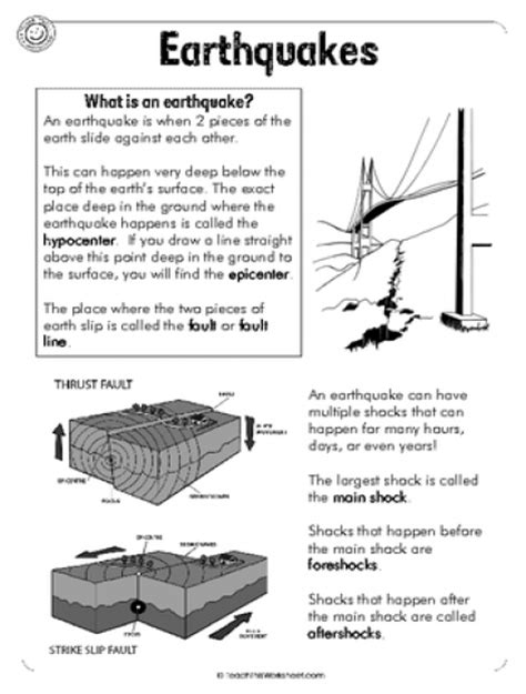 earthquake worksheets teach this worksheets create and customise your own