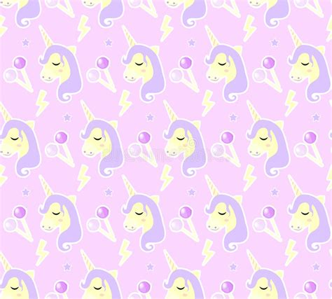magic pattern background magic unicorn seamless pattern modern fairytale endless