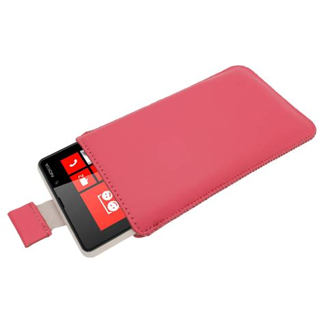 nokia windows phone cover pink leather pull tab pouch for nokia lumia 820 windows