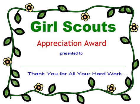 17 best images about girl scouts certificates on