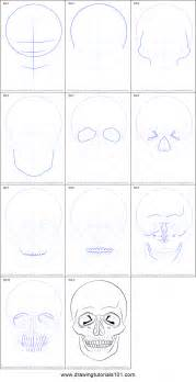 How To Draw A Step By Step How To Draw A Skull Printable Step By Step Drawing Sheet
