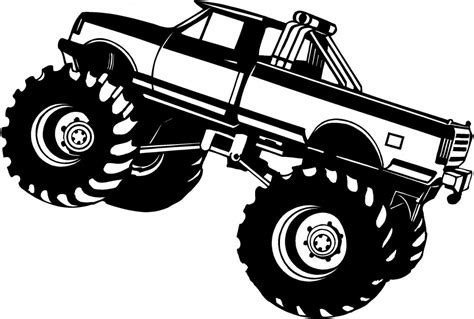 monster trucks drawings truck drawings for kids cliparts co