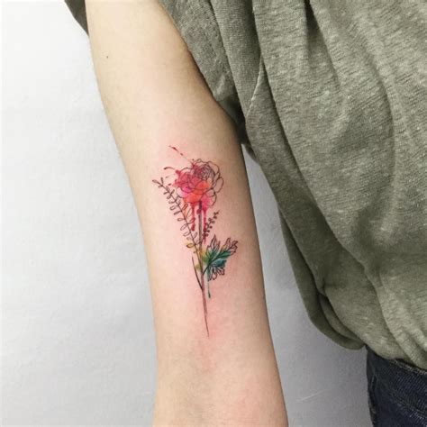 watercolor tattoos ct floral ideas tatting