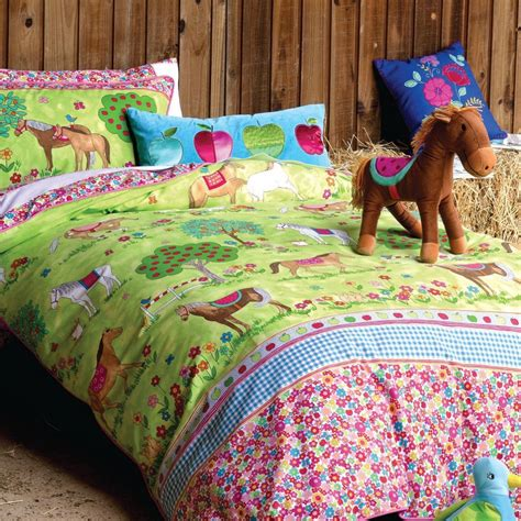 Animal Bedding Sets Pony Bedroom Ideas Horses Duvet Set Bedding Hiccups Children S