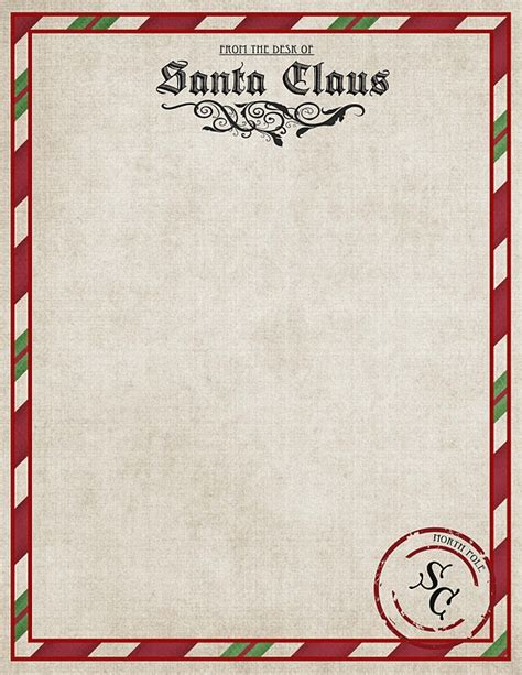 printable christmas letter from santa christmas freebies letters from santa printables