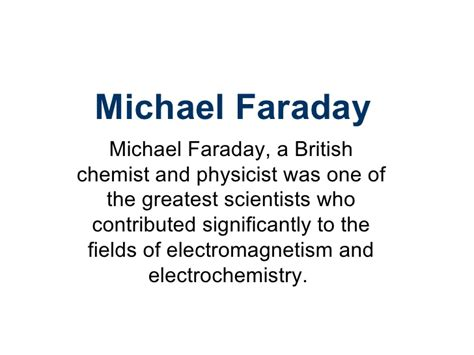 electromagnetic induction faraday ppt michael faraday ppt