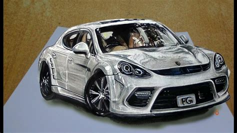 sports cars drawings draw a 3d sports car by easy