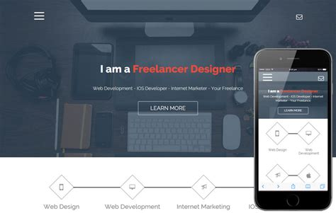 Freelance A Onepage Portfolio Flat Bootstrap Responsive Web Template By W3layouts Bootstrap Freelancer Template