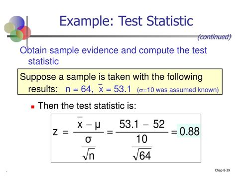 calculator z test statistic ppt chapter 8 introduction to hypothesis testing