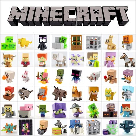 Pajangan Figure Minecraft Mini Figur Minifigures Seri 3 minecraft mini figure series 4 obsidian 5 6 end choose new ebay