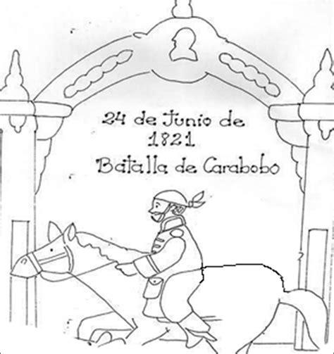 dibujos colorear 24 de junio batalla de carabobo el rincon de la maestra efemerides