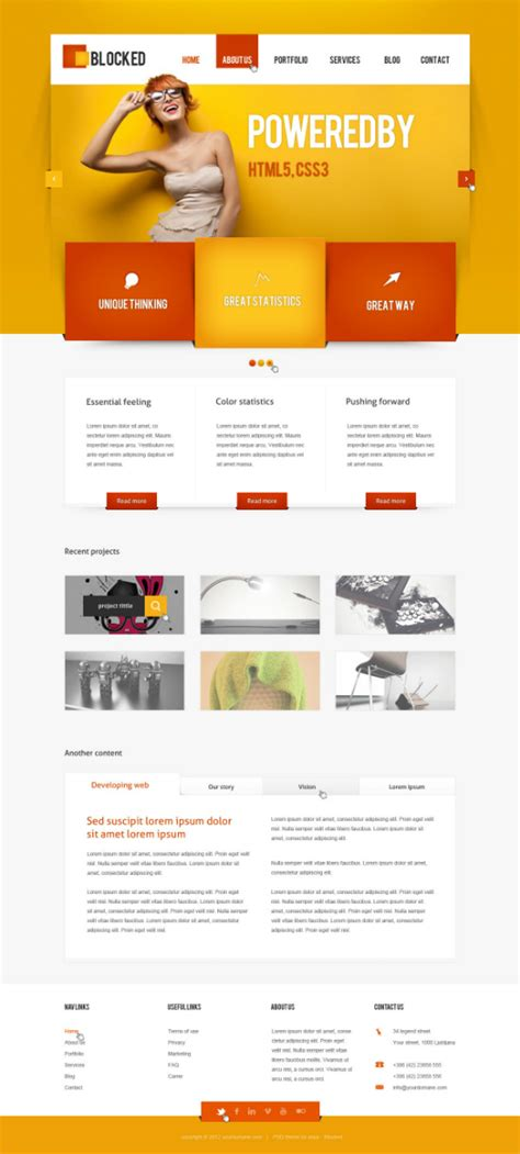 web layout colors 40 inspirational exles of orange color in web design