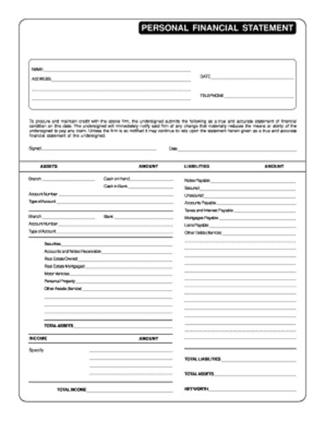 Financial Statement Template Forms Fillable Printable Sles For Pdf Word Pdffiller Fillable Personal Financial Statement Template