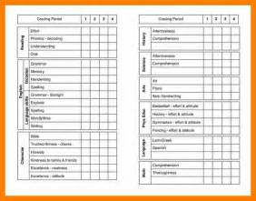report card template free 5 report card template free janitor resume