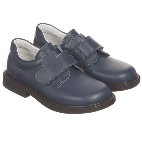 velcro shoes children s classics boys navy blue leather velcro shoes