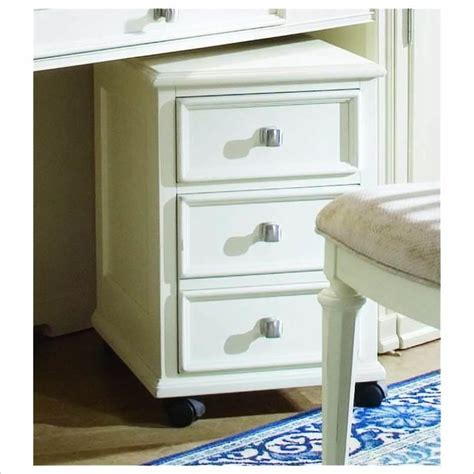 White Wood File Cabinet American Drew Camden Mobile 2 Drawer Lateral Wood File Cabinet Antique White Traditional