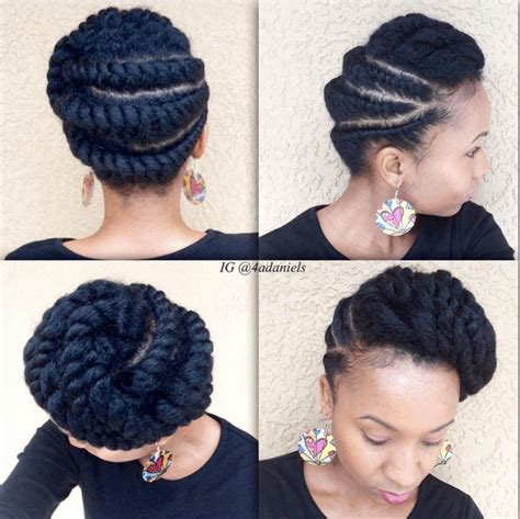 silky flat twists updo silky flat twists updo