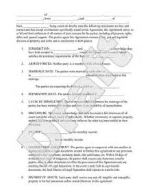 Marriage Separation Agreement Template by Marriage Separation Agreement Template With Sle