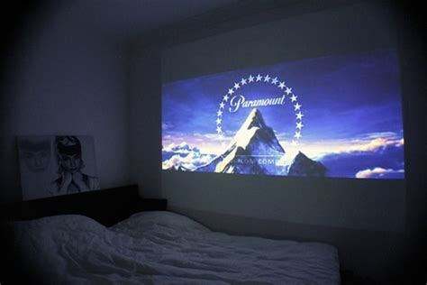 projector bedroom simple bedroom with projector 500x334 roomporn