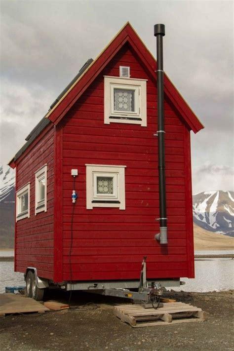 check out this tiny cottage on wheels in longyearbyen