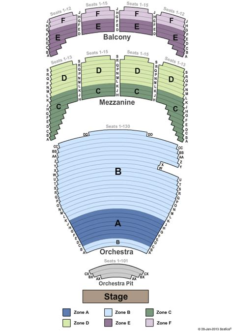 tulsa pac seating diagram and the beast tulsa performing arts center tickets