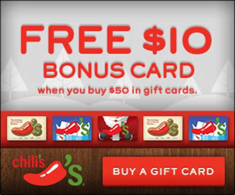 Restaurants With Gift Card Specials 2013 - restaurant deals chili s gift card bonus free kids hot chocolate