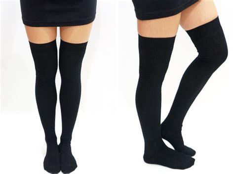 knitted thigh high socks knit thigh high knee high socks tights on storenvy