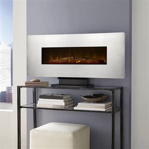 muskoka   wall mount electric fireplace  zinc