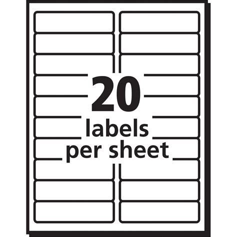 avery templates for 10 labels per sheet avery 8461 avery easy peel mailing label ave8461 ave