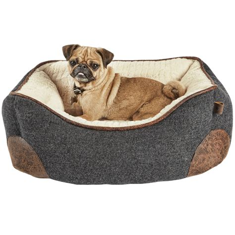 memory foam pet bed harmony grey nester memory foam dog bed petco