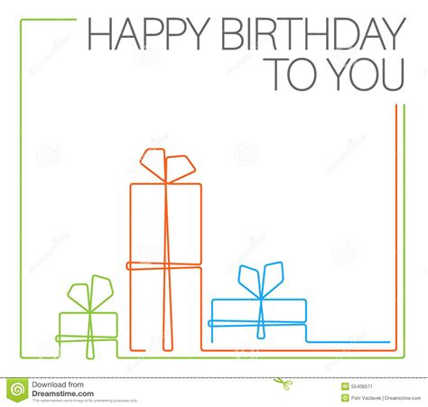 birthday card template free vector birthday minimalistic card template stock vector