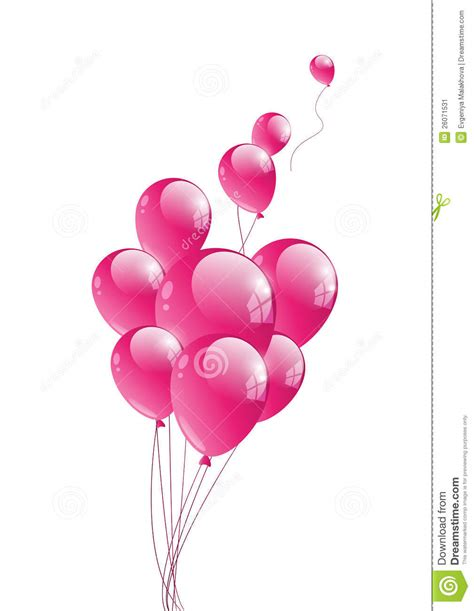 Balon Pink pink balloon stock vector image of festive glossy