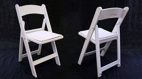 Resin White Chairs by Rent White Resin Folding Chair With Padded Seat Iowa City