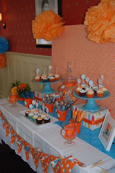 Orange Baby Shower Themes by Orange And Turquoise Baby Shower Ideas Photo 9 Of