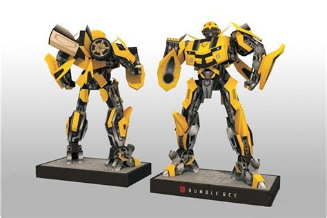 3d Metal Puzzle Bumblebee bumblebee 3d diy transformers with base design papermodel model puzzle papercraft
