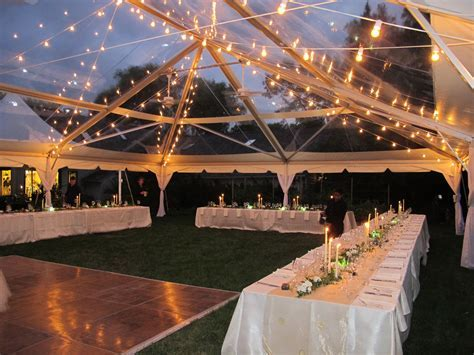 40x60 Clear Top Tent beautiful for a night reception