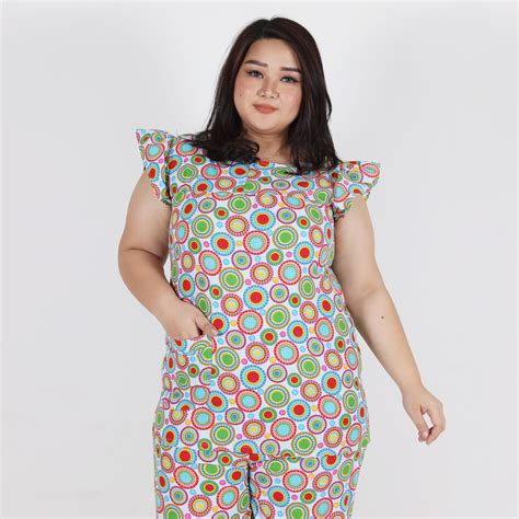 Baju Wanita Big Size Murah denia pajamas bigsize biru fashion big size