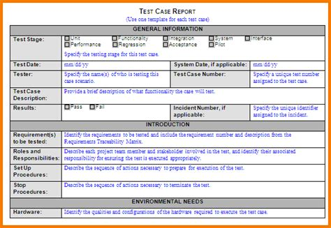acceptance test report template 8 test report template expense report