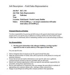 sales representative description template 11 sle sales representative description templates