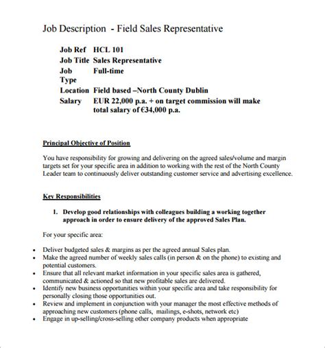 sales job description best resumes