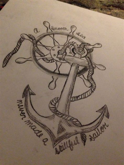 draw my tattoo quote anchor pencil and in color quote anchor