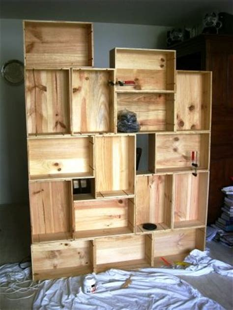 wine crate bookshelves bookshelf made with up cycled wooden wine crates for the