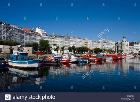spain galicia galicia la coruna marina harbour port boat