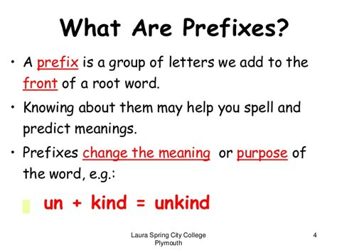 define comfort letter roots prefixes suffixes