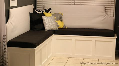 build a custom corner banquette bench construction