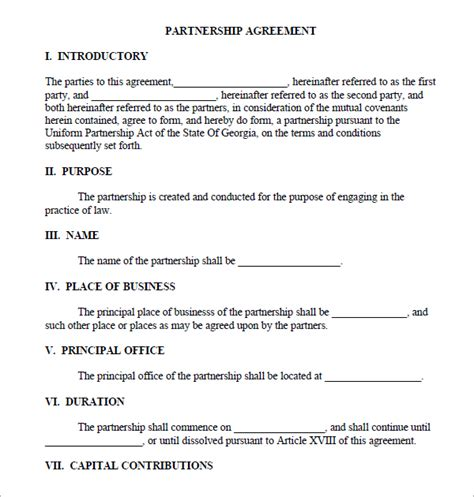 real estate partnership agreement template partnership agreement sle real estate forms