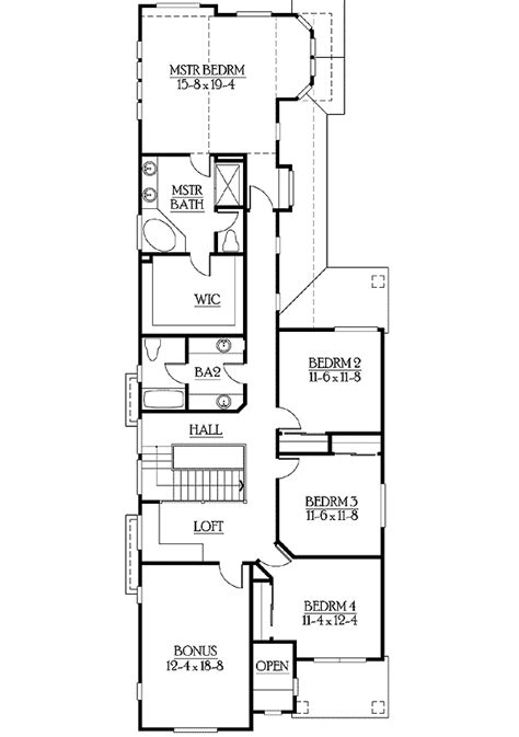 narrow floor plans narrow lot home plan with options 23250jd